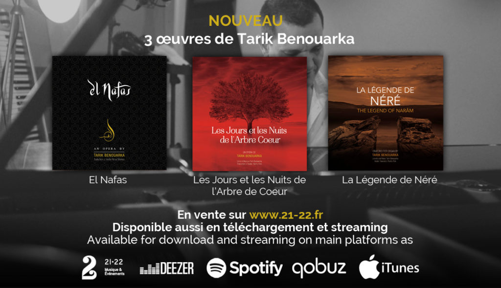 CD en vente sur 21-22.fr, Deezer, Soptify, Qobuz, iTunes
